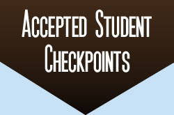 Accepted Student Checkpoints