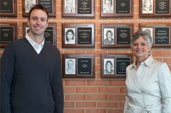 Cedarville hall of fame inductees John Krueger and Sandy Schlappi