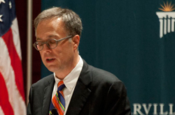 Michael Gerson spoke at Cedarville's Critical Concern Series in 2012