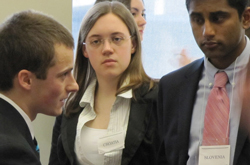 College students learn the skills of negotiation and cooperation through Model UN.