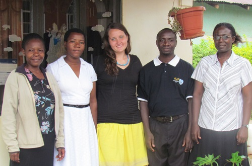 Rachel Yutzy, a junior social work student, interned in Uganda during the fall 2012 semester and learned how social work can be applied universally.
