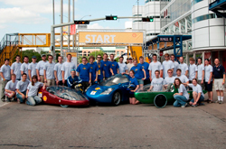 Cedarville's 2012 team for the Shell Eco-marathon Americas competition brought three vehicles to the event in Houston, Texas.
