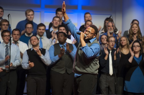 The OneVoice Gospel Choir will travel to Washington, D.C., to lead worship at the Evangelical Day of Prayer and Action for Immigration Reform. Photo credit: Scott L. Huck/Cedarville University