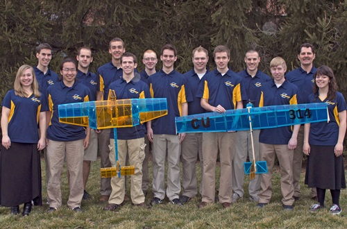 Cedarville aero design teams received awards for airplane design at an international competition. Photo credit: Scott L. Huck/Cedarville University
