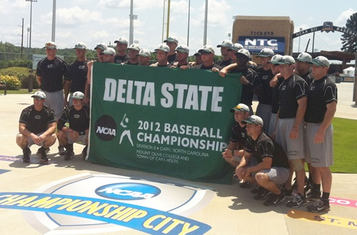 Sam Wichael, a graduate assistant athletic trainer at Delta State University, accompanied the baseball team to the NCAA Division II Baseball Championships in North Carolina last season.