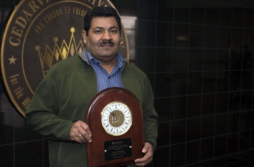 Pastor and custodian Jose Sanchez was recently recognized by students as Cedarville's Staff Member of the Year. Photo credit: Scott L. Huck/Cedarville University