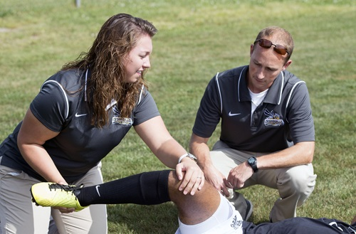Hands-on experience prepares Cedarville's athletic training students for work in the professional field directly out of college. Photo credit: Scott L. Huck/Cedarville University