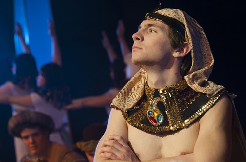 "Cedarville University student Kyle Mottinger received an Acting Award of Merit for his role as Joseph in ""Joseph and the Amazing Technicolor Dreamcoat."" Photo credit: Scott L. Huck/Cedarville University"