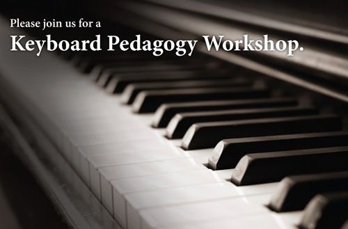 The Cedarville University Department of Music and Worship will host a keyboard pedagogy workshop led by renowned pianist Brenda Dillon. Artwork credit: Cedarville University
