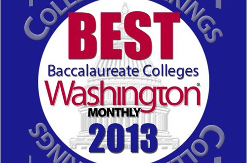 Cedarville University is ranked 22nd in Washington Monthly's Baccalaureate College Ranking for 2013.