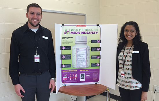 Pharmacy students present on Over The Counter Medication Safety