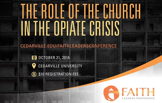 Cedarville's School of Pharmacy hosts Faith Leaders Conference.