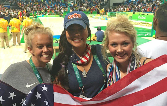 Shannon Arbogast worked at the Rio Olympics