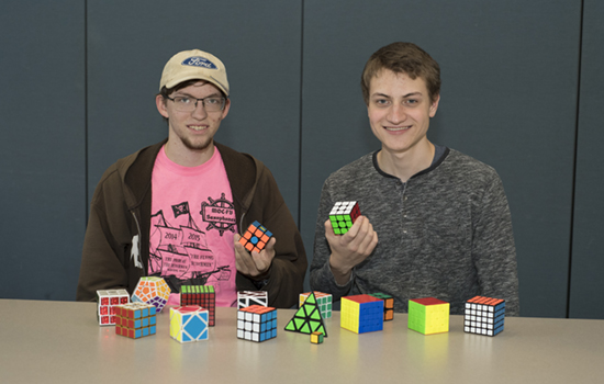 Two CU students placed in a World Cubing Association competition.