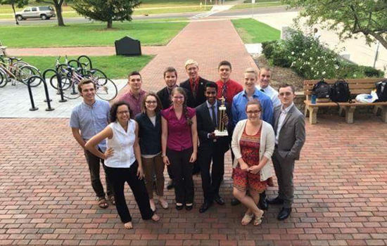 The debate team won an NPDA tournament in September
