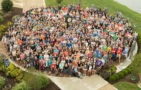 Cedarville recruits students from all 50 U.S. states.