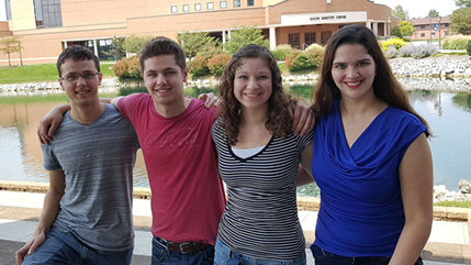 Denen siblings at Cedarville