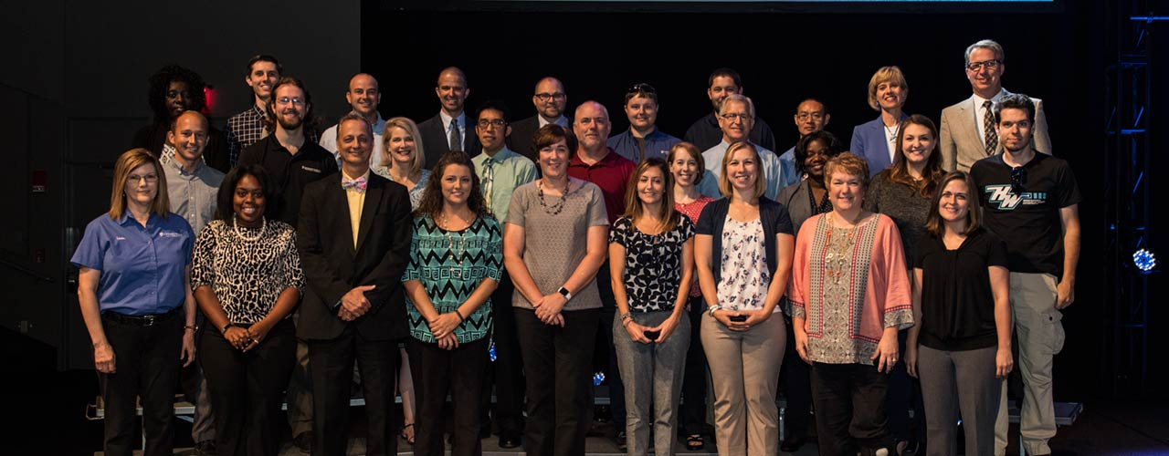 Members of Cedarville's faculty and staff receiving service awards