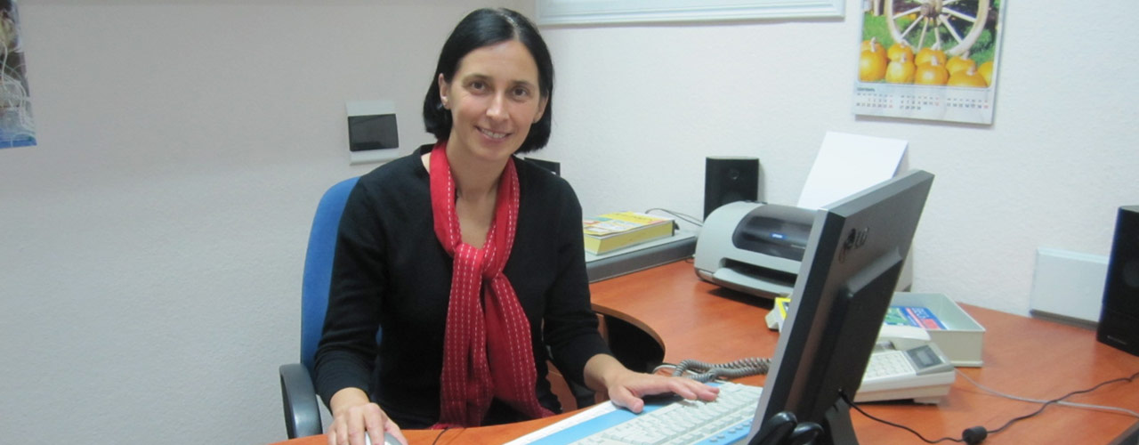 Anya Izyumtseva, pictured at her desk.