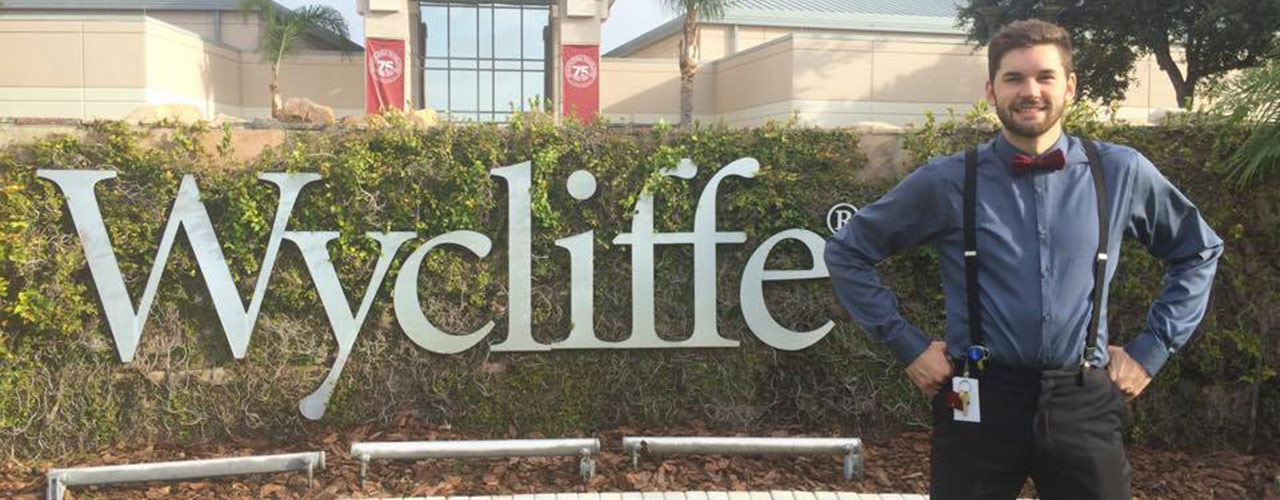 Tim Marvin at Wycliffe headquarters
