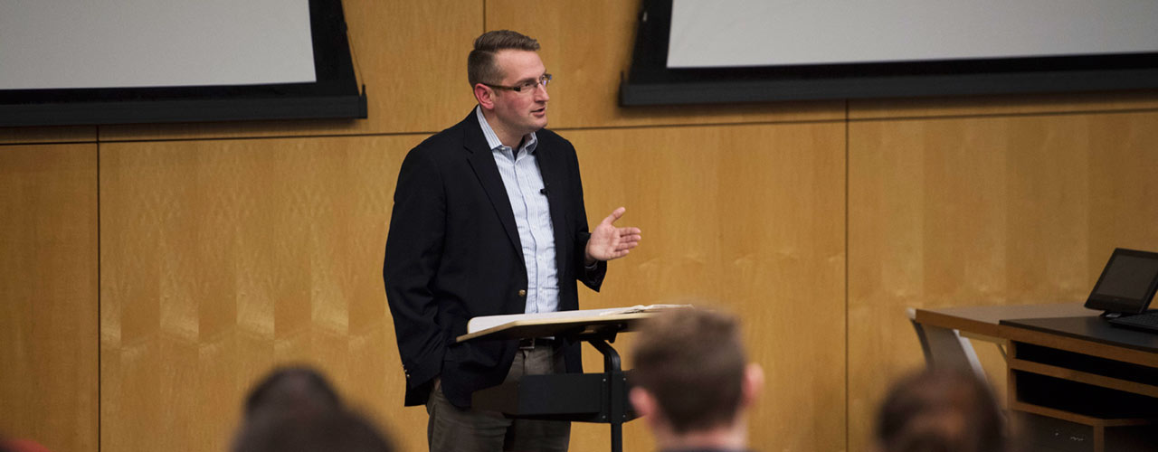 Sam Allberry speaks at Cedarville University