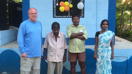 Pete Savard with Global Water Consortium project in India