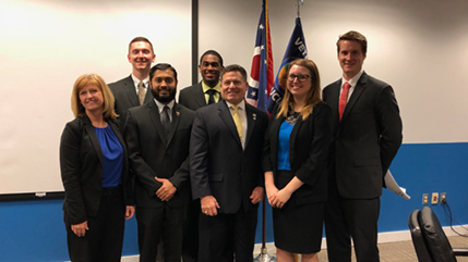 Cedarville MSO members visit Ohio statehouse