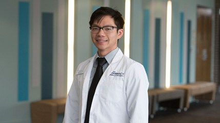 Cedarville University Doctorate of Pharmacy student Caleb Tang
