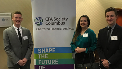 Cedarville finance majors at CFA Institute Research Challenge