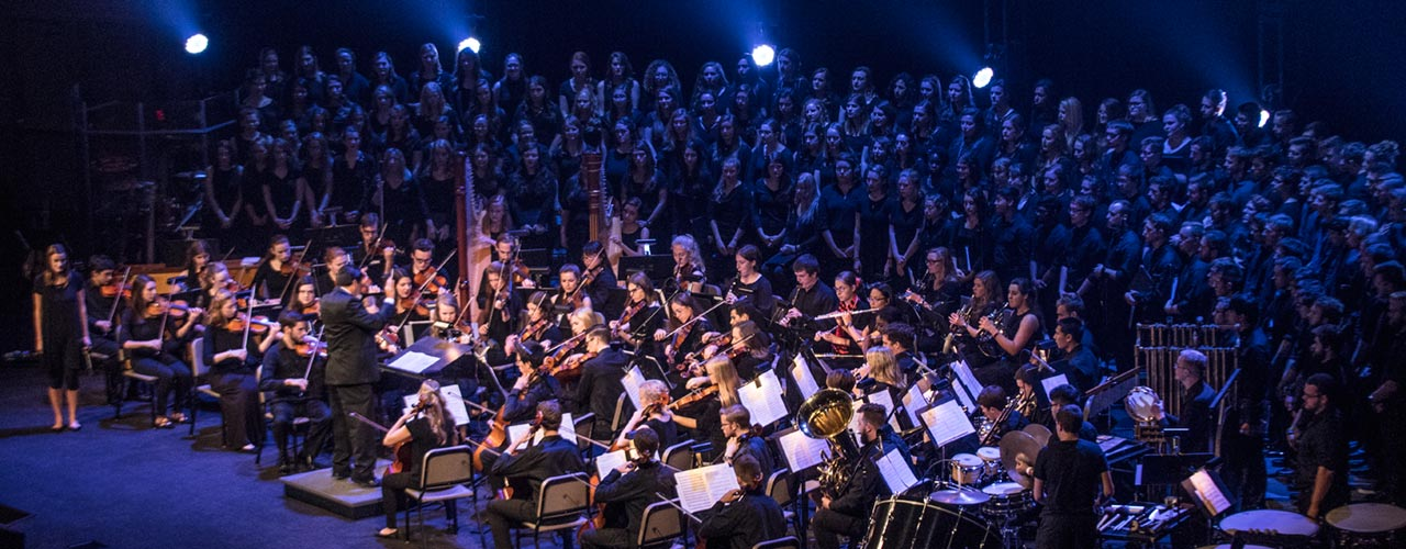 Cedarville University orchestra and choirs perform
