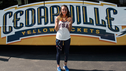 Cedarville University nursing major Grace Norman named Paratriathlete of the Year