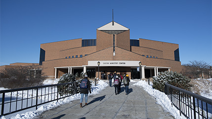 Dixon Ministry Center in winter