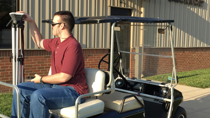 Autonomous golf cart at Cedarville