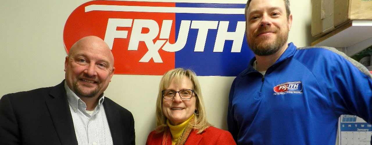 Marc Sweeney from School of Pharmacy and Melanie Sherman from Fruth Pharmacy