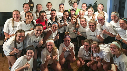 Cedarville University and University of Costa Rica women's soccer teams