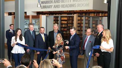 Wiersbe Library ribbon cutting