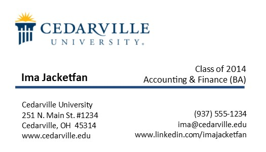 Business card cedarville university business card 1 accmission Image collections