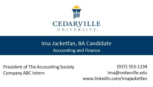 Business card cedarville university business card 2 download template 3 accmission Gallery