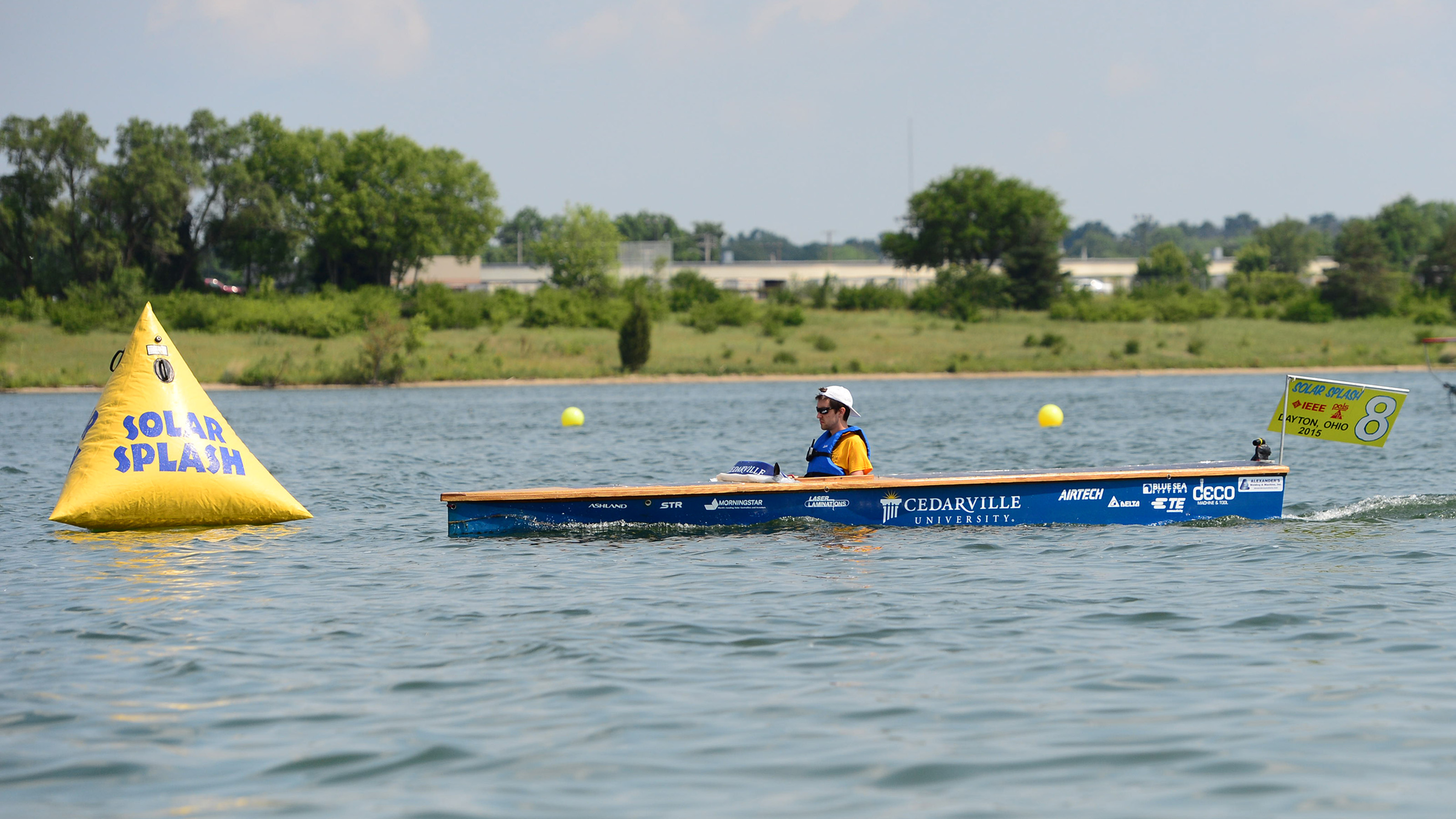 Solar Boat during Solar Splash endurance competition.