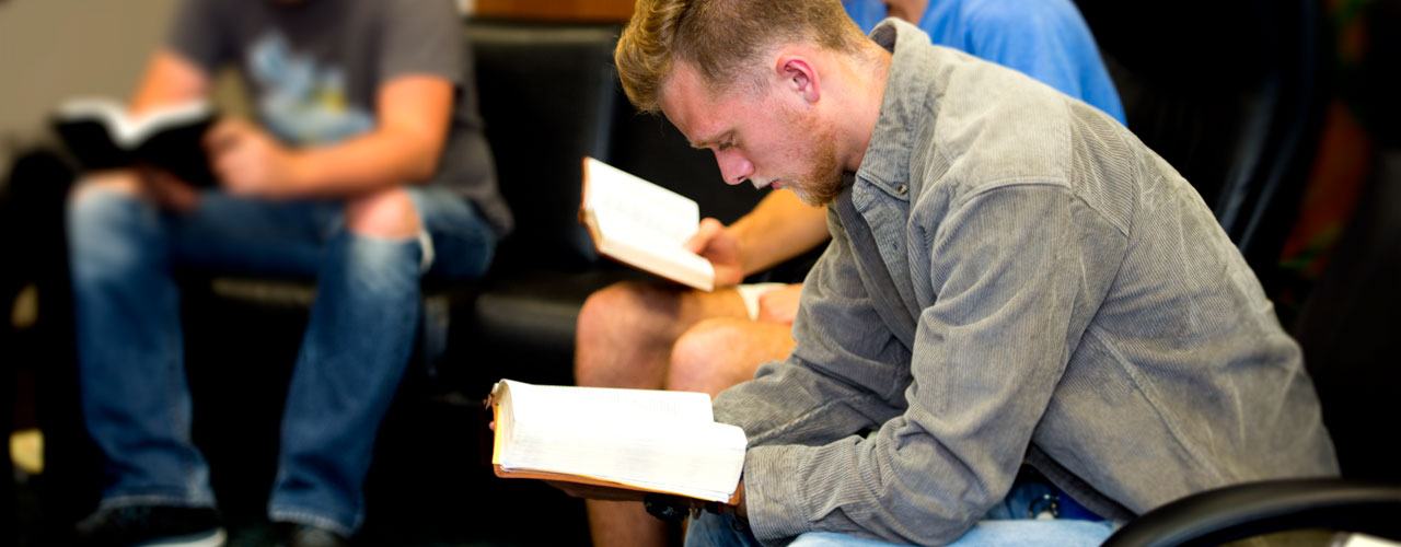 Youth ministry student studies the Bible