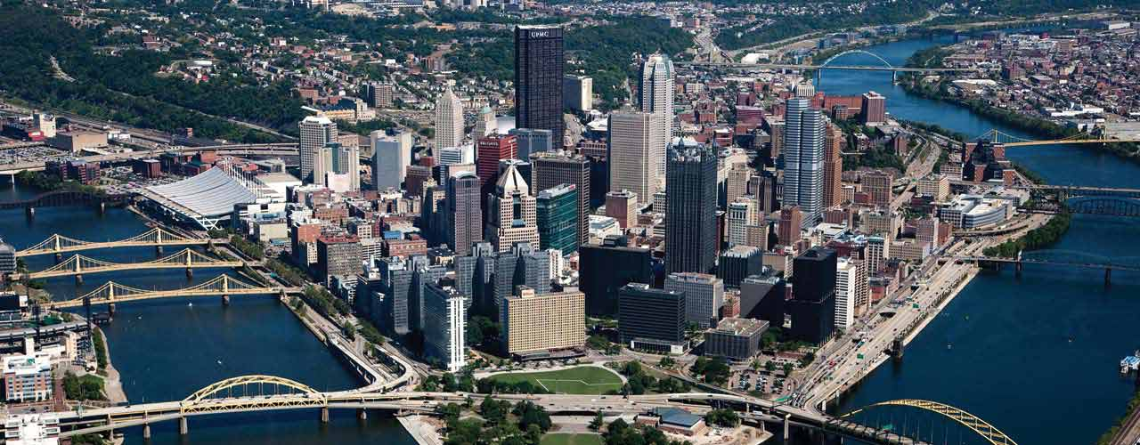 Arial photo of Pittsburgh