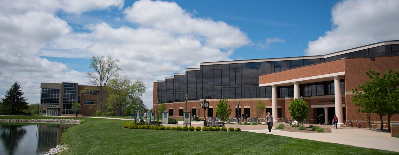 The Stevens Student Center and the Health Sciences Center