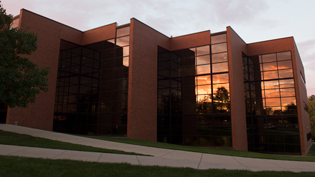 The Engineering and Science Center sits by Cedar Lake