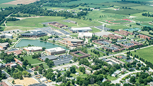 Campus as seen from the air