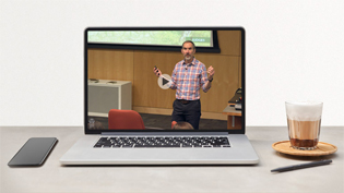 Video of Dr. Miller teaching on a laptop screen