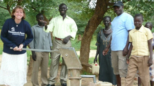 Environmental Science alumni helps build a well