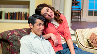 Male and female student actors perform in Cedarville's theater