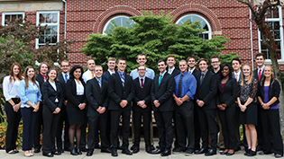 Students from the Bachelor of Arts in Business Management Program