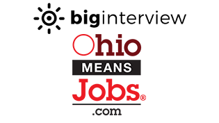 Big Interview and Ohio Means Jobs logos
