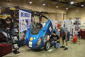 Supermileage car at the Ohio State Fair